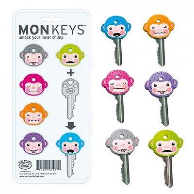 Monkeys Schlüsselkappen Set Schlüsselüberzieher Affe Affen Fred Silikon 6 Stück