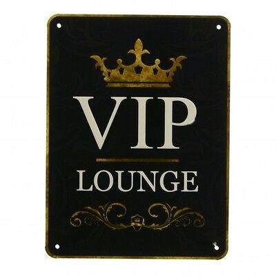 Blechschild VIP Lounge in 15x20 cm Metallschild Werbeschild Lounge Gentleman