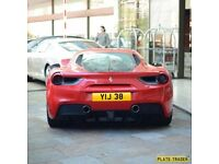 YIJ 38 Cherished number plate.