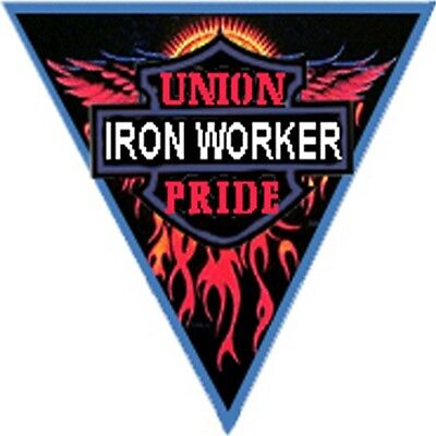 Ironworker Union Pride Triangle Sticker Ciw-4
