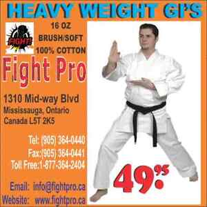 KARATE HEAVY WEIGHT, 16OZ, 100 COTTON (905) 364-0440 FIGHTPRO.CA