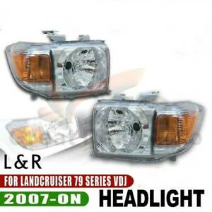 1.LHD Headlights PAIR Fits Toyota Landcruiser VDJ 79 Series******2020
