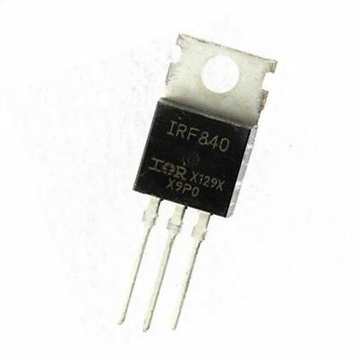 10pcs 8a 500v Ir To-220 Transistor Mosfet N-channel Irf840n Irf840 New Ic Gi
