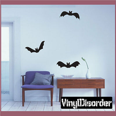 Bats Halloween Holiday Vinyl Wall Decal Mural Quotes Words -arth3h2](Halloween H Words)