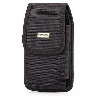 HEAVY DUTY RUGGED CANVAS CASE COVER HOLSTER SWIVEL BELT CLIP