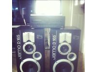 JAMO D135 Home Audio speakers + 180W per channel Kenwood Amp - PERFECT WORKING ORDER
