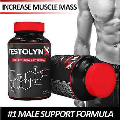TestolynX Best Testosterone Booster, 2X Stronger than Nugenix, Lean Muscle!!