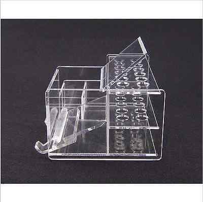 Dental Acrylic Organizer Holder For Resins Adhesives Brush Empty Instrument C001