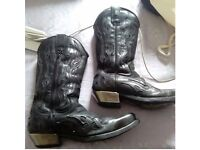 New Rock Cowboy Boots 8 Leather