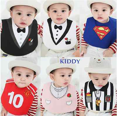 Baby Boy/Girl Costume Bibs - Superman.Coach.Tuxedo.Party Princess.Pirate 0-3 yrs - Pirate Baby Girl Costume