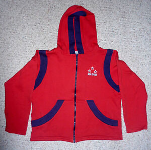 2 child Red Hoodies : Sz 7/8 and 10/12:  Clean,ExcCondition