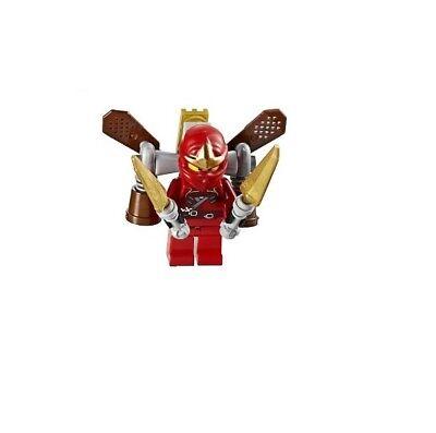 Lego Kai ZX + Ninja Rocket Pack njo037 minifigure 9443 red ninja