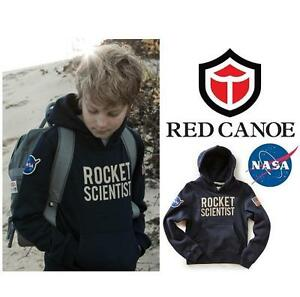 NEW RED CANOE NASA SWEATER KID'S 10 NAVY - BLUE - ROCKET SCIENTIST - NASA 99693428