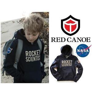 NEW RED CANOE NASA SWEATER KID'S 10 NAVY - BLUE - ROCKET SCIENTIST - NASA 99693428