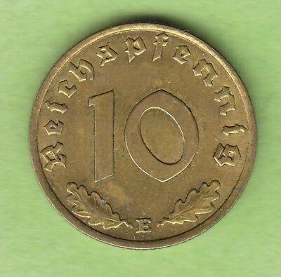 10 Reichspfennig 1937 E fast vz besserer Jahrgang nswleipzig