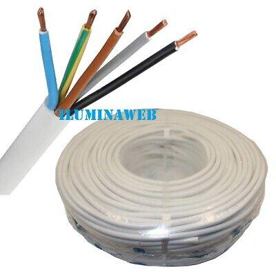 Corte x 1 Metro Manguera blanca flexible 5x1.5mm2 H05VV-F cable blanco electrico
