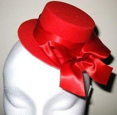 cinator millinery burlesque wedding hen party fancy dress (Red Mini Top Hat)