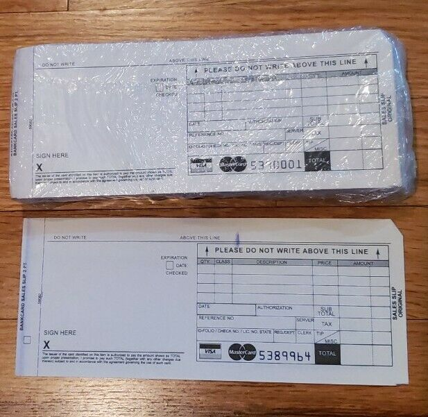 Credit Card Sales Slips Carbonless 50 Pack