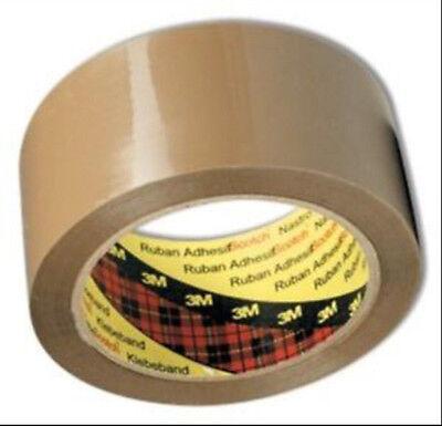 6x Brown Tape Rolls SCOTCH 3M Size 48mm (2