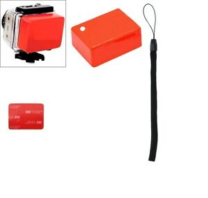 Floaty for GOPRO® , Orange with 3M Tape and Safety Strap,HD HERO HERO2 HERO3  3+