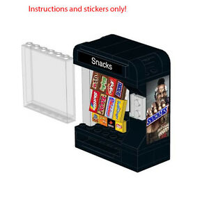 Lego-Snack-Vending-Machine-Instructions-Stickers-Snickers-Mars-M-Ms-Skittles