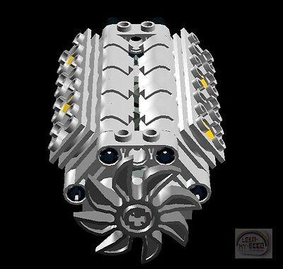 LEGO Technic - V8 Engine Kit w/ Fan - LBG - New - (Motor, Piston, Crank Shaft)