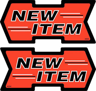 """50 NEW ITEM 2.5"""" x 5.5"""" Double Sided Shelf Sign Arrows - Retail Value Sale Cards"""