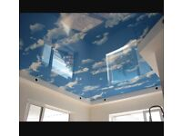 Decorative stretch ceiling