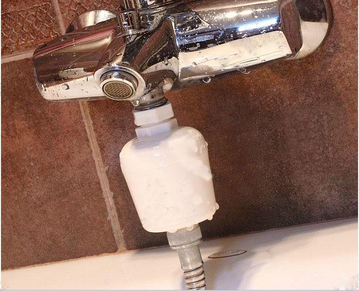 Shower Head In-Line Filter Cartridge Water Softener Purifier