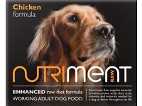 Nutriment dog food 1.4kg chubbs and 509g packs