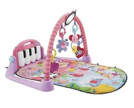 Fisher-Price Kick & Play Piano Baby Gym, Pink