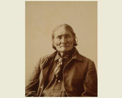 1898 Apache Chief Geronimo PHOTO, Apache Indian Native American Leader