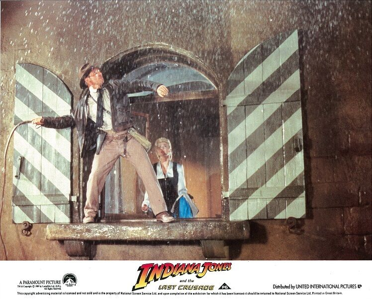 Indiana Jones and the Last Crusade lobby card  # 2 - Harrison Ford