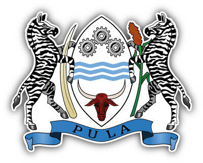 Botswana Coat Of Arms Car Bumper Sticker Decal - 3'', 5'' or - Botswana Coat Of Arms