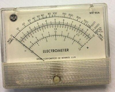 Rca Wv-85a Electrometer Meg Ohms Tester -radio Corporation Of America Usa