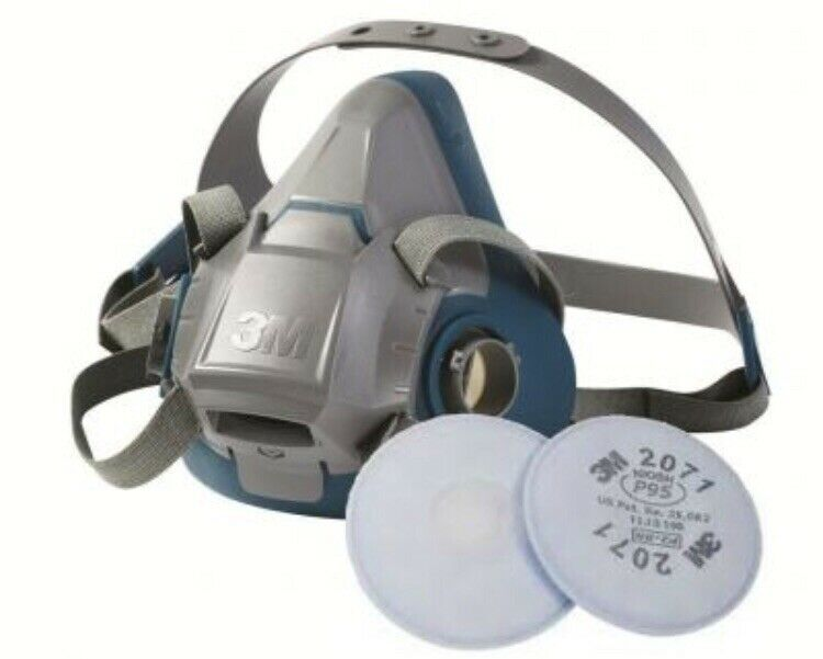 3M Small Respirator  6501 Pair Of Filter Exp 2025 New Made In USA , READY TO USE