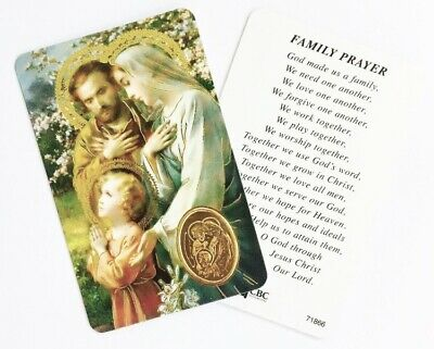HOLY FAMILY LAMINATED Prayer Card - Credit Card Size