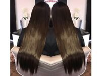 Hair Extensions in salon or at home- starting at 150 for hair and fitting