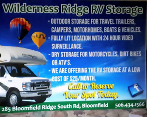 RV and Vehicle Outdoor Winter Storage
