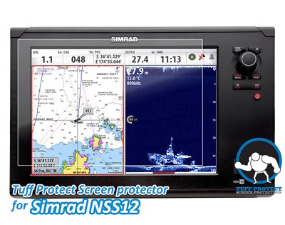 Clear Screen Protectors for Simrad NSS 12 Fishfinder  - Tuff