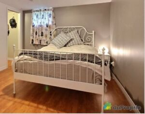 Ikea White Metal Queen Bed Frame