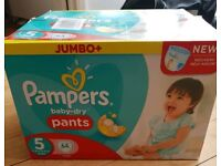Pampers pull up pants.nappies.box 64.. size 5