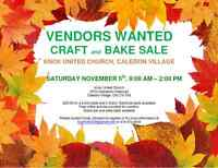 Vendors needed for Annual Knox United Church Craft and Bake Sale