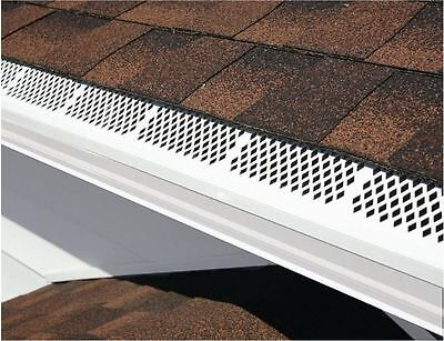 3 Ft White Snap-In Residential Gutter Guard Cover Screen Leaf Debris