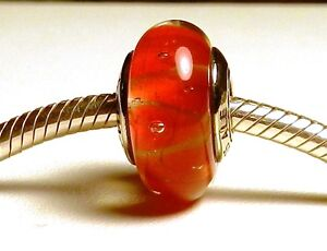 MURANO GLASS ~ GLS# 28A STERLING SILVER SINGLE CORE
