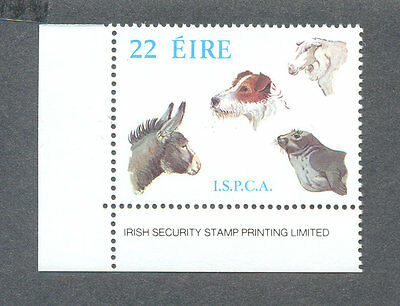 IRELAND-I.S.P.C.A.-ANIMAL WELFARE-PETS- MNH SINGLE-DOGS FARM ANIMALS