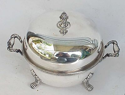 Antique? Silverplate Covered Candy Dish? Sheffield England? English Silver?