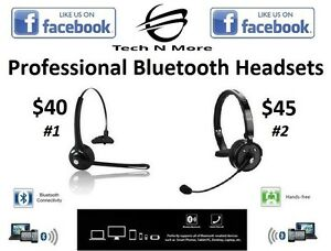 Professional Bluetooth Headsets (2 Options)