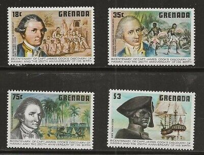 Grenada, Scott 895-98 Captain Cook complete set MH