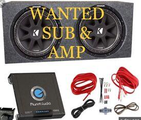 Subwoofer & Amp